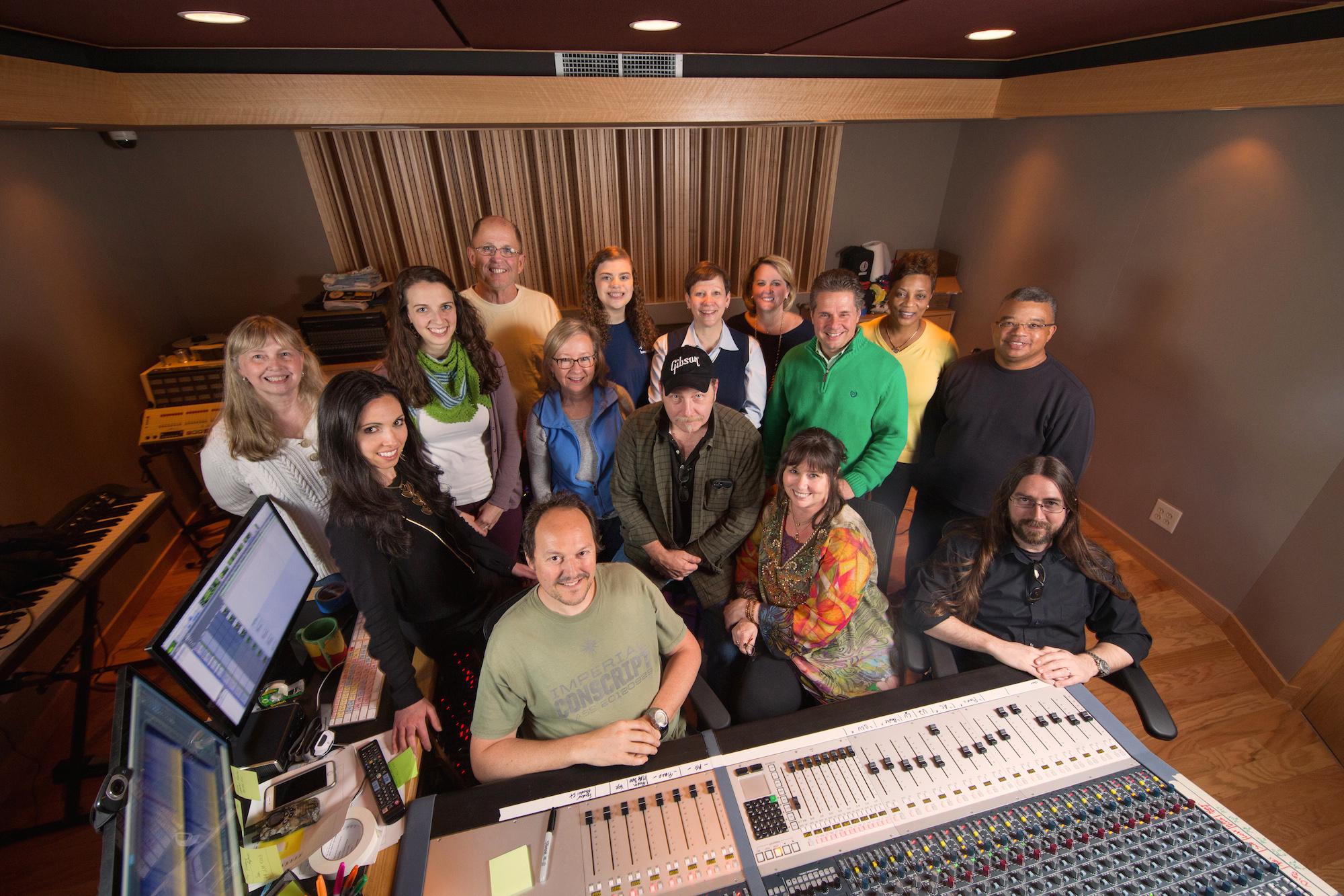 UNC Rex Recording Lullabies at Bunker Sound Studio